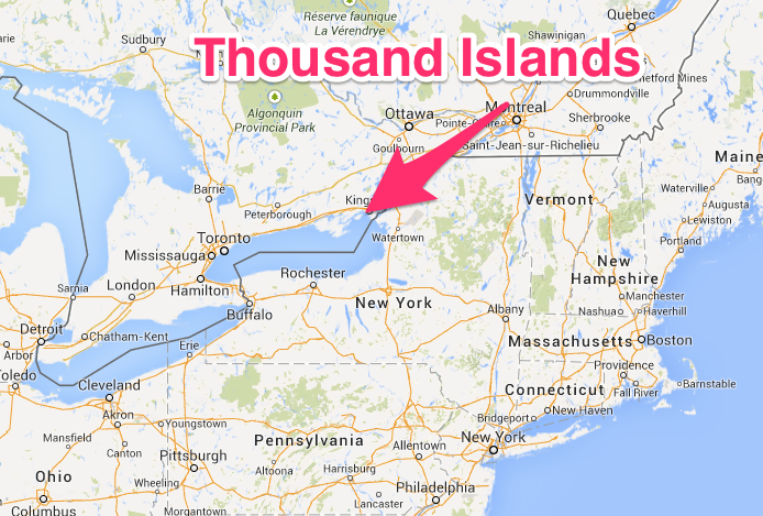 Thousand Islands Kingston Map | TRAVELING | Thousand islands