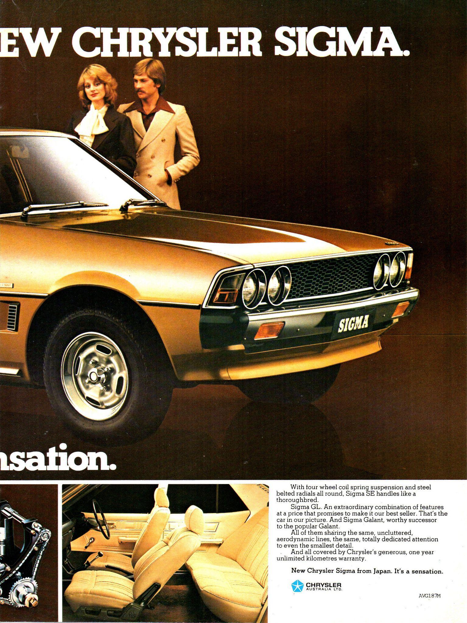 1978 GE Chrysler/Mitsubishi Sigma SE Sedan Page 2 Aussie Original ...