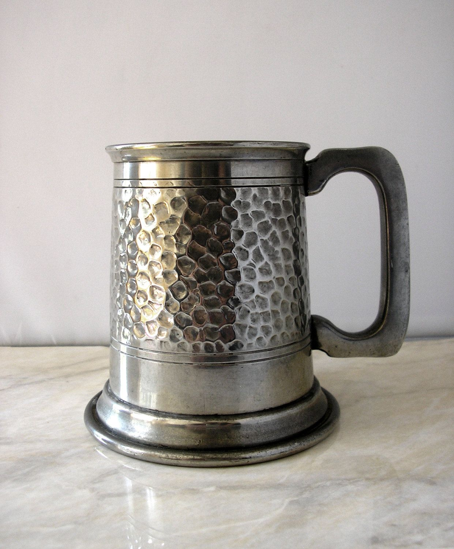 Vintage Tudric pewter tankard stein hammered Liberty of