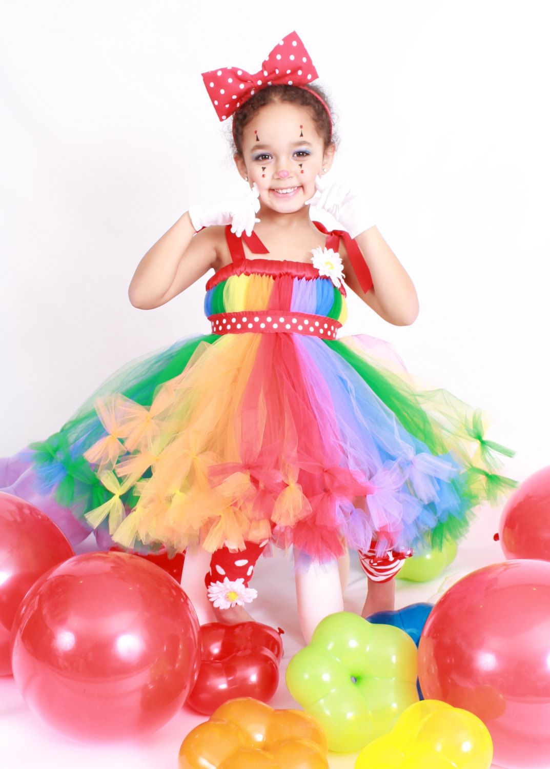 Petti Tutu Dress - Halloween or Birthday Costume - Rainbow - Cutie ...