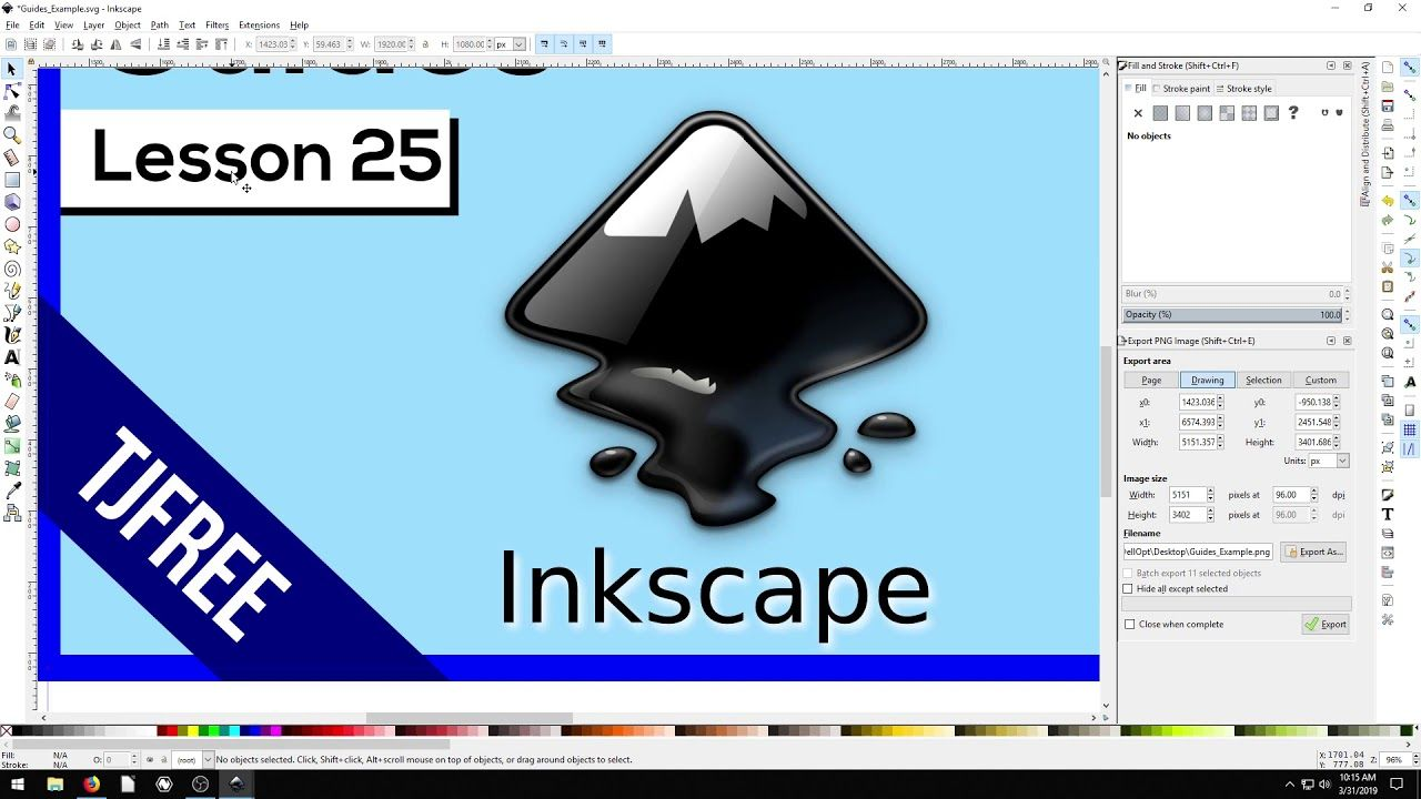 Inkscape Using Guides Graphic Design Programs Science And Technology Interactive
