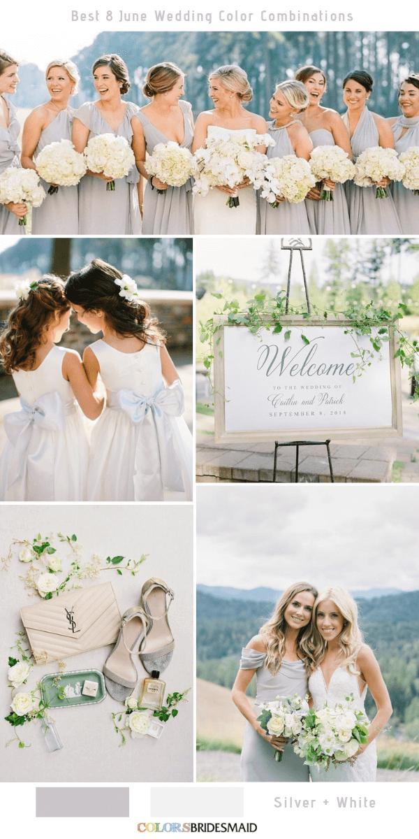 Best 8 June Wedding Color Combinations For 2019 June Wedding Colors Wedding Colors Wedding Color Combinations