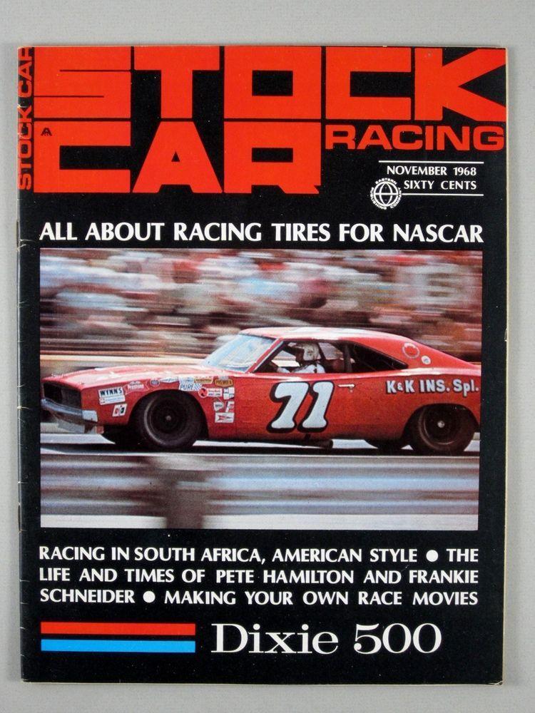 Stock Car Racing November 1968 Pete Hamilton/Frankie