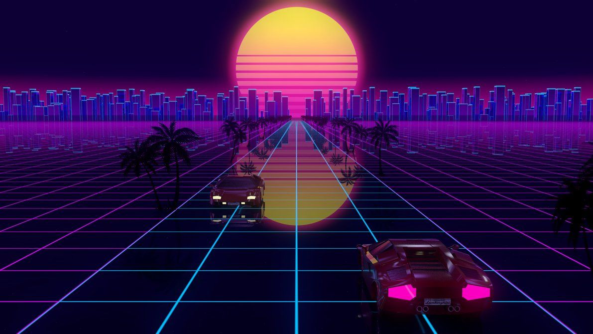 RetroWave Style by SylvainT Music poster design
