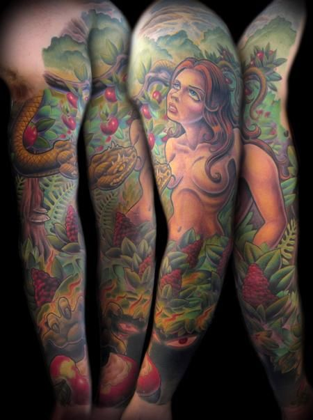 Garden of Eden tattoo sleeves. Not exactly how I pictured
