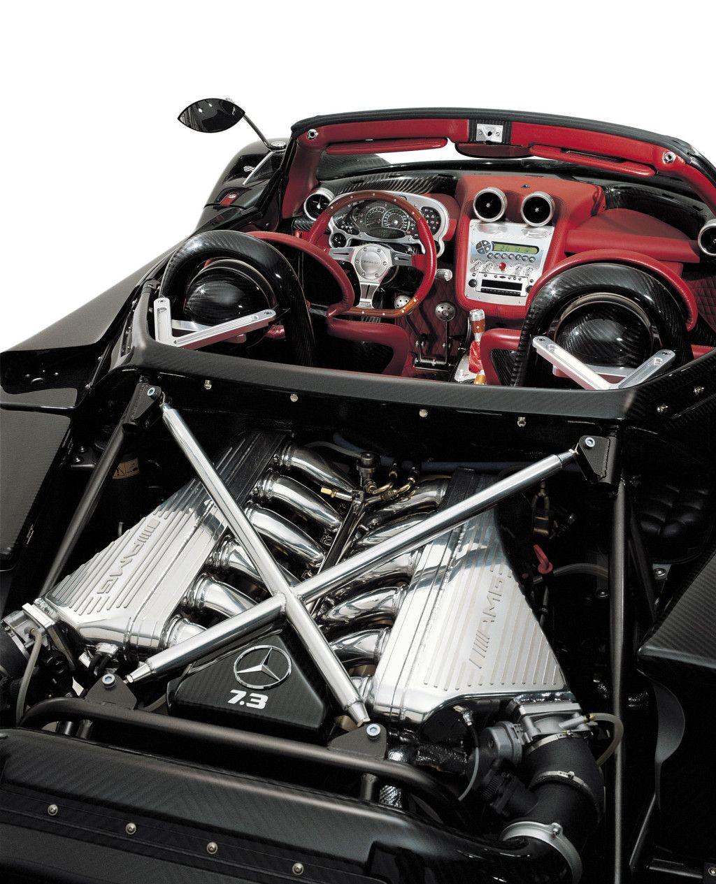 Pagani Zonda Roadster F 7.3 Liter V12 Mercedes AMG Engine