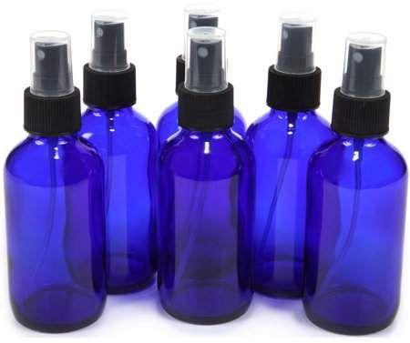 02ffcd7e4336 Vivaplex Vivalpex, 6 Cobalt Blue 4 oz Glass Bottles with Fine Mist ...
