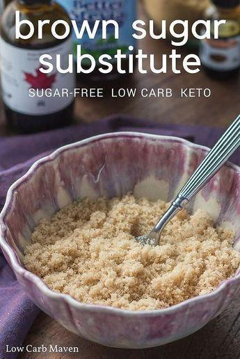 Brown Sugar Substitute Recipe (sugar-free, low carb)