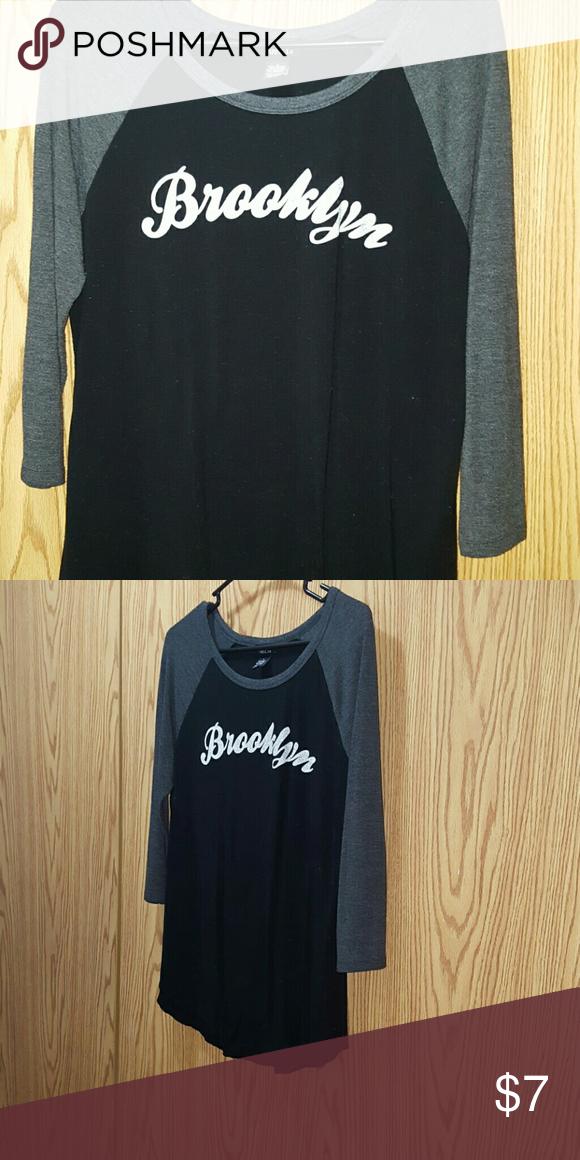 Brooklyn Baseball Tee Grey & Black Brooklyn Tee Rue 21