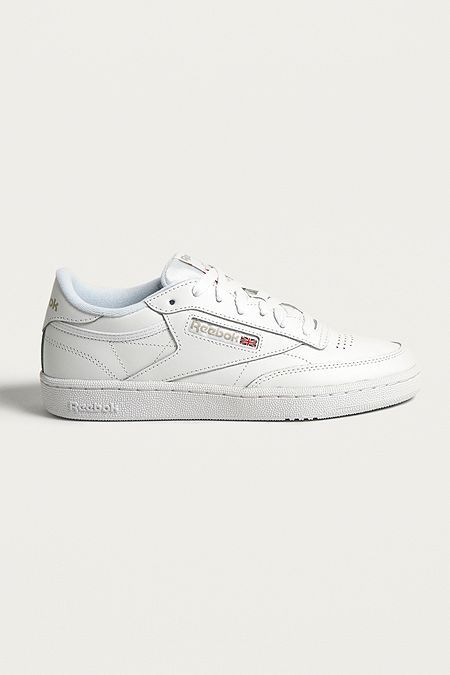 7bd75d25b3eb Reebok Club C 85 White on White Leather Trainers