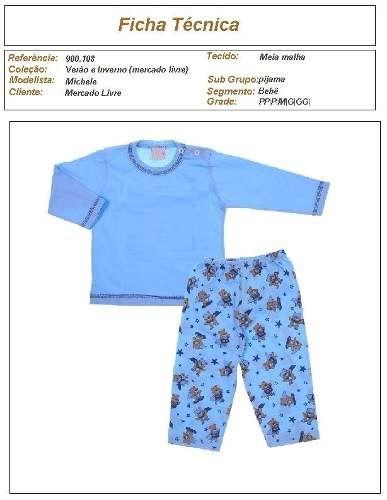 82cdc0e70c molde de pijama de moletom infantil para meninos