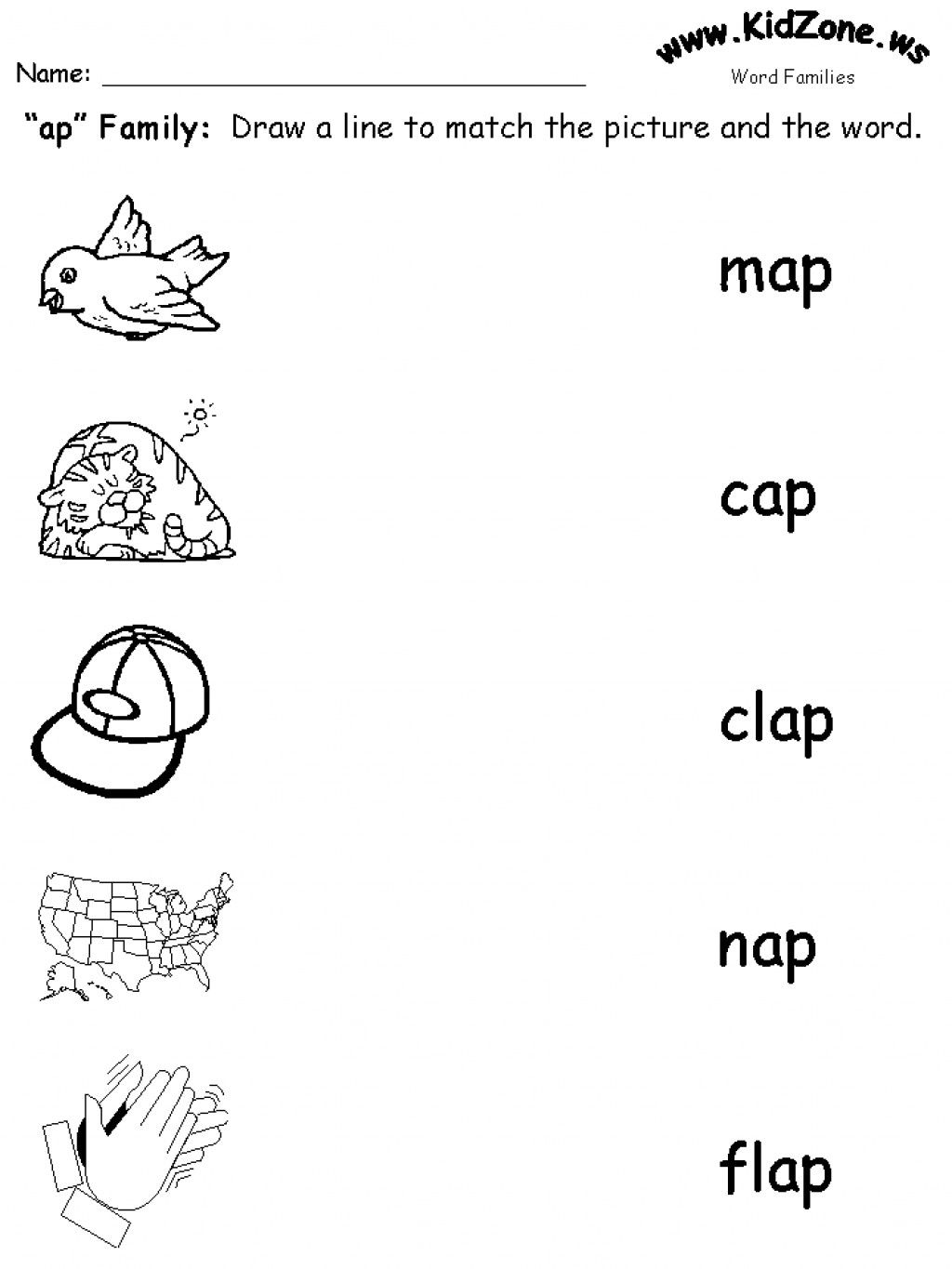 Teaching Word Families With Images