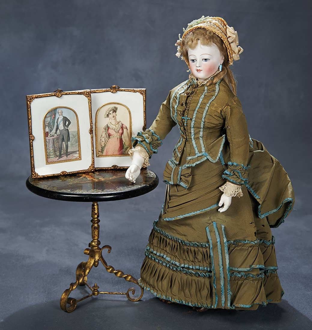 Very Rare And Beautiful French Bisque Portrait Poupee With
