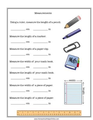 Measurement Worksheet | Measurement worksheets, Metric system and ...