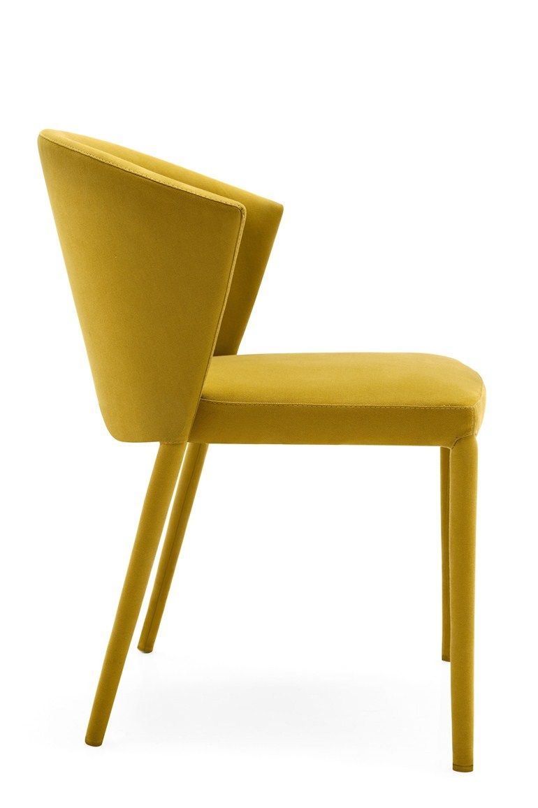 Amelie chair by calligaris design orlandini design yellow
