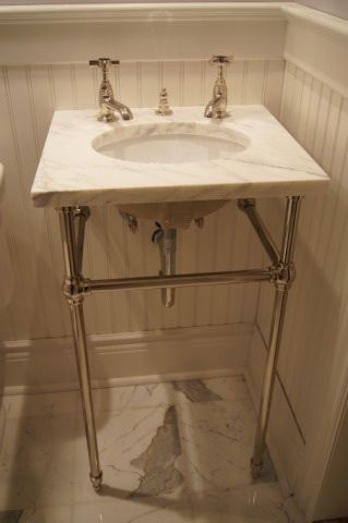 Pee Console Sink Idea For Our The Powder Room Remodel