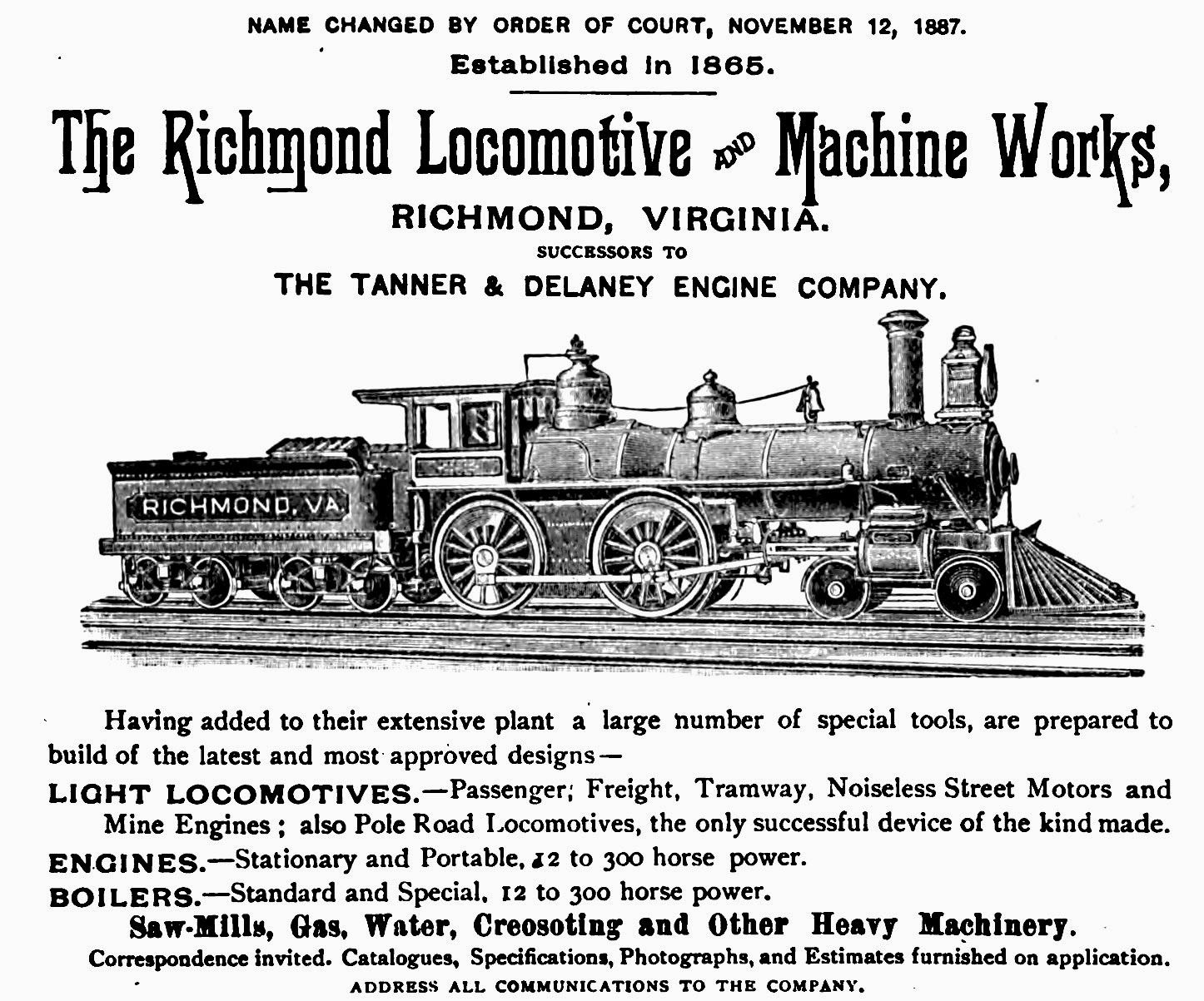 The Richmond Locomotive And Macine Works