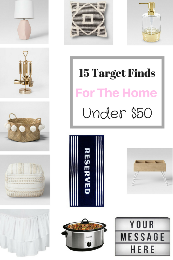 15 Target Finds Under $50 - For The Home | Target, Budgeting and 50th