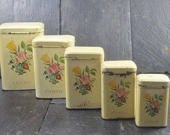 Metal Kitchen Canister Set On Etsy A