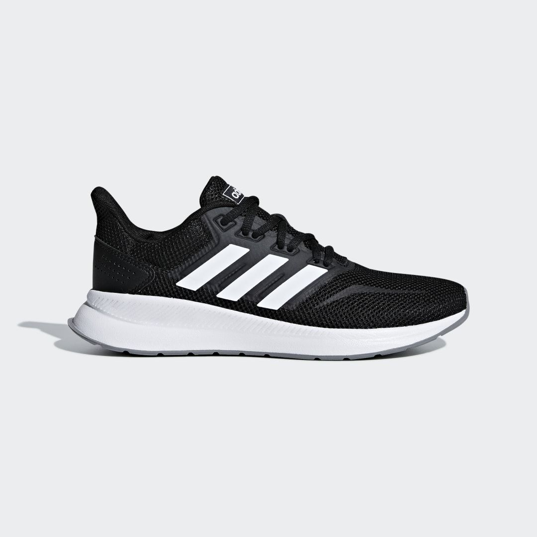 Runfalcon Shoes In 2020 Black Shoes Lightweight Running Shoes Black Adidas