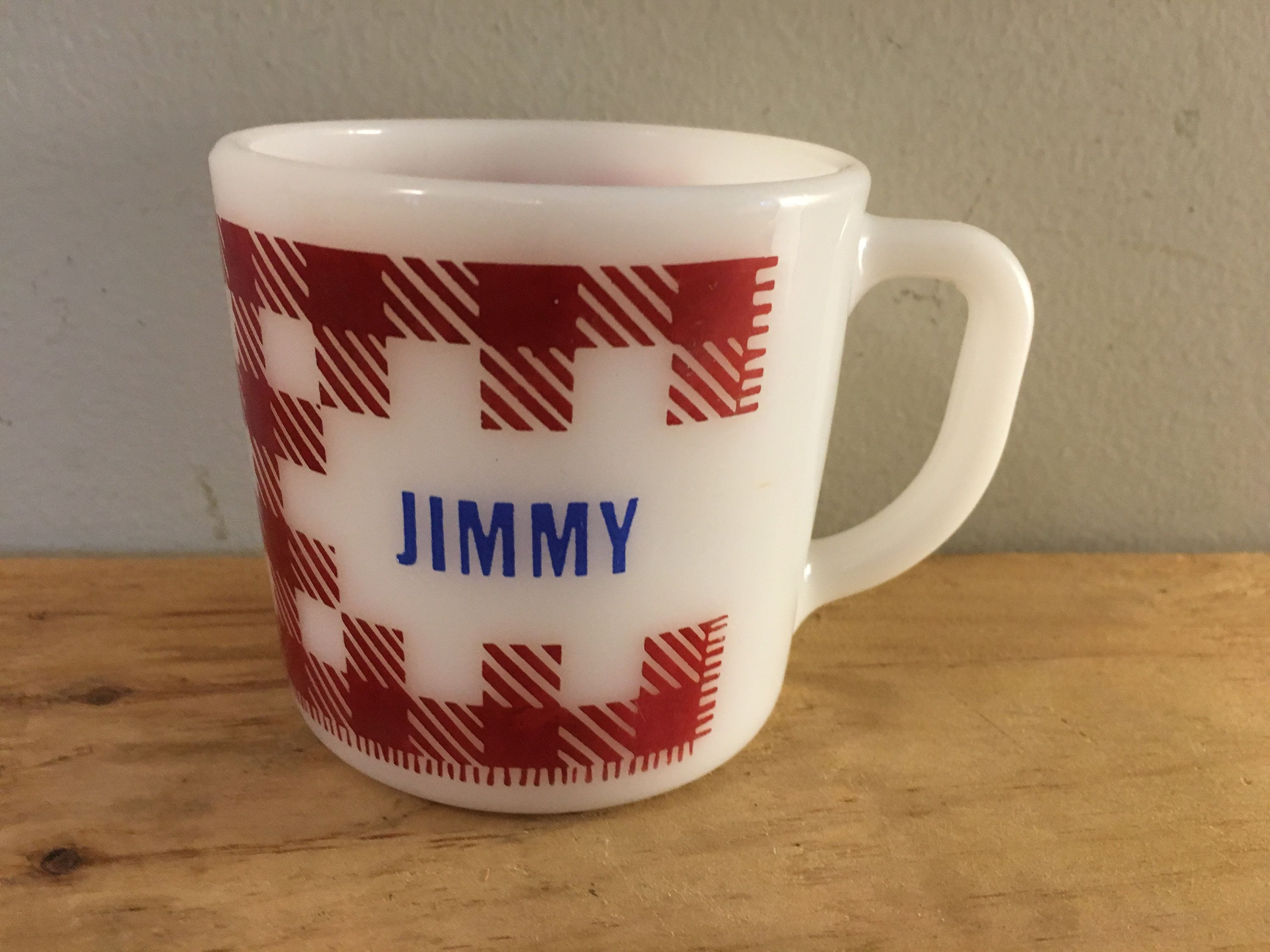 Have you seen Jimmy? I have his mug....Vintage JIMMY Milk