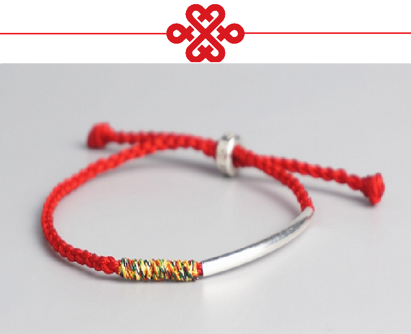 9a9c1c6a0b Original Tibetan Buddhist Handmade Knots Lucky Rope Bracelet Red and Multi