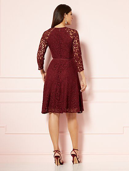 Eva Mendes Collection - Veronica Lace Flare Dress - New York ...