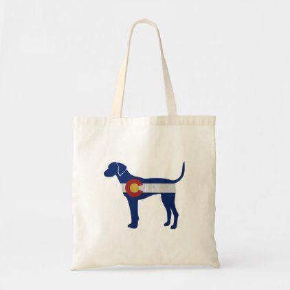 Plott Hound Dog Colorado Native Flag Tote Bag | Zazzle.com