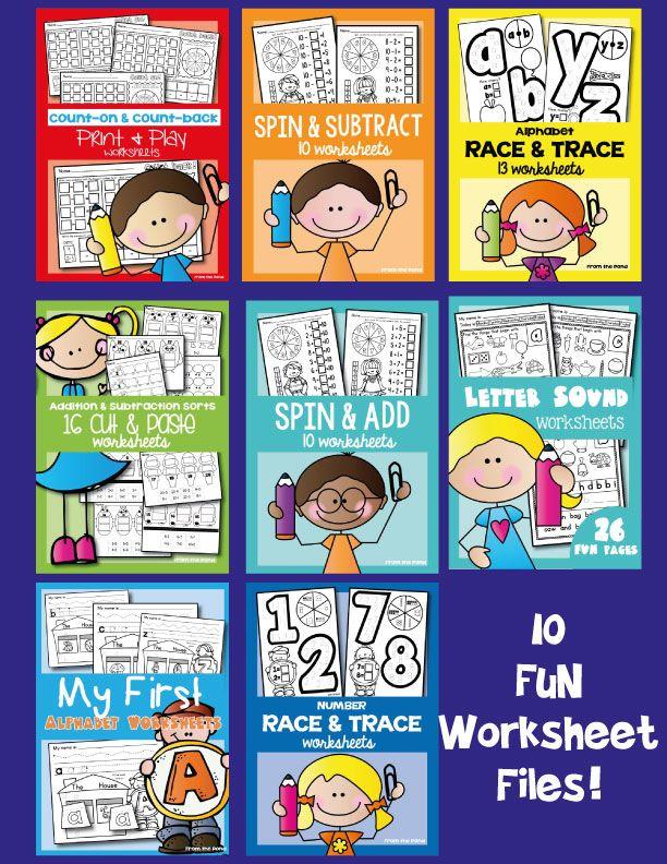 Kindergarten Worksheet Bundle $ | Kindergarten :) | Pinterest ...
