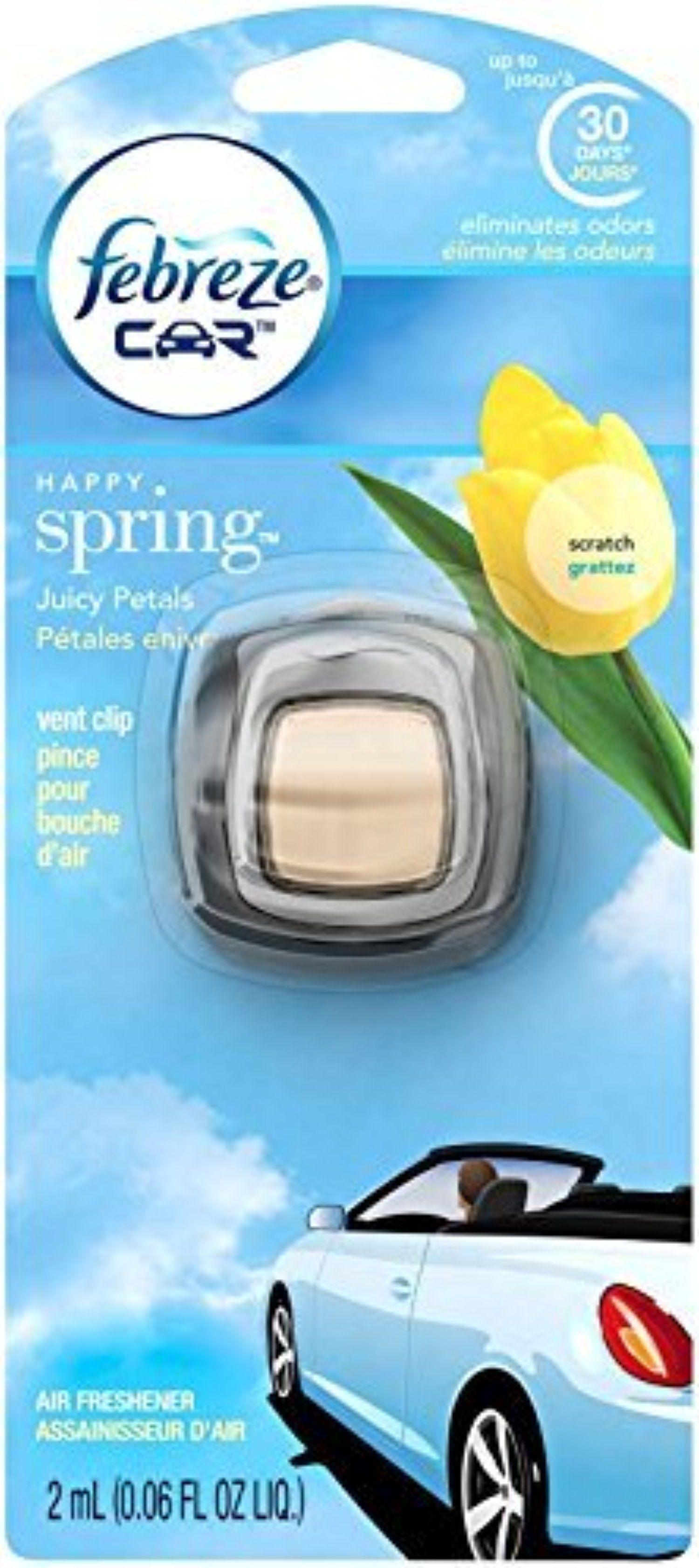 Febreze Car Vent Clip Happy Spring Air Freshener (1 Count