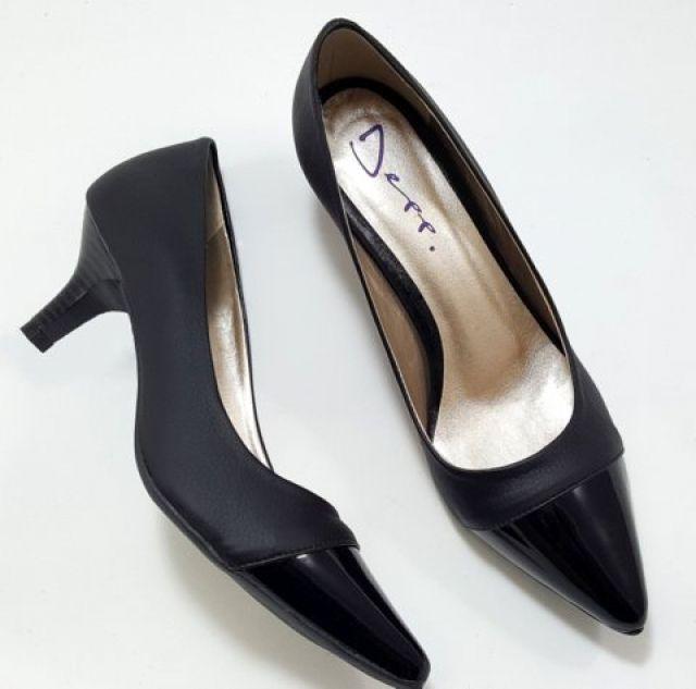 e2ea31a82c Sapato Scarpin Feminino Preto Com Verniz Preto