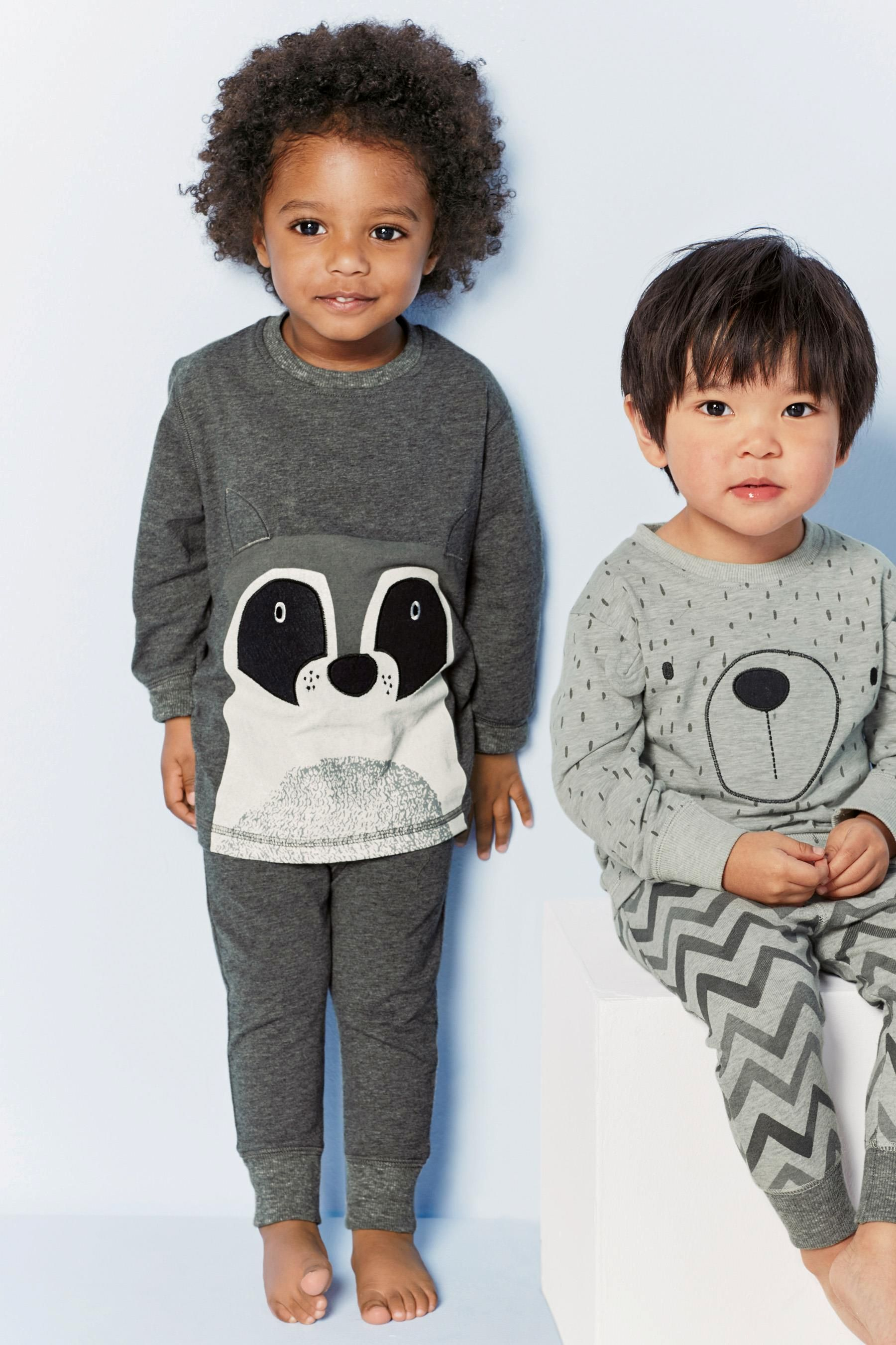6083b985e39b7a Buy Two Pack Grey Racoon Snuggle Fit Pyjamas (9mths-8yrs) from the ...