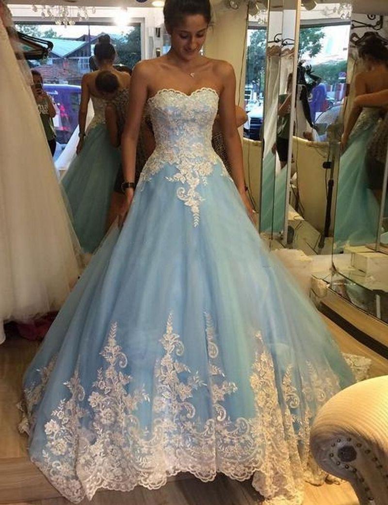 Baby Blue Wedding Dresses