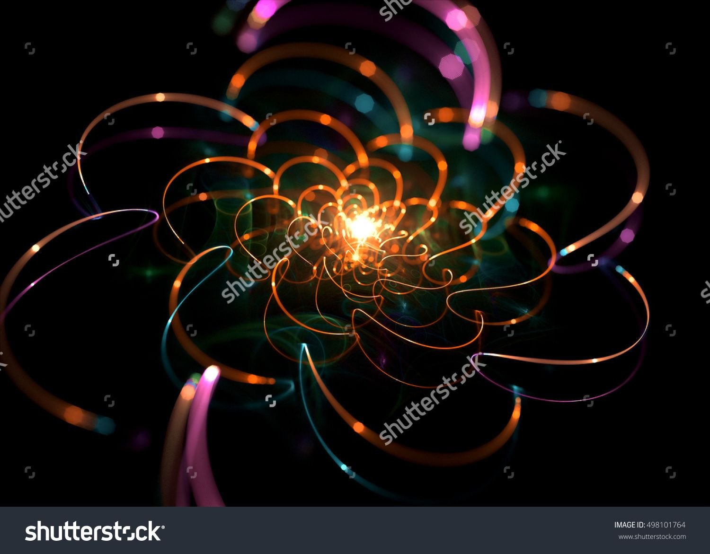 Wide Shining Flower   Background - Fractal Art