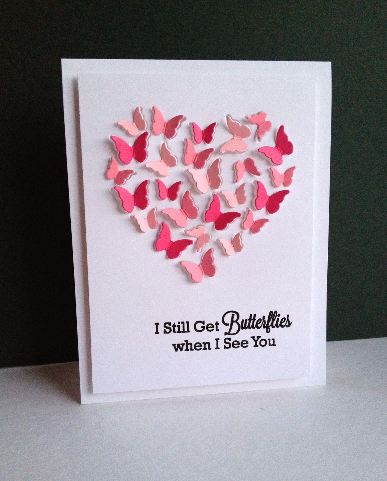 Butterfly heart im in haven valentine day cards