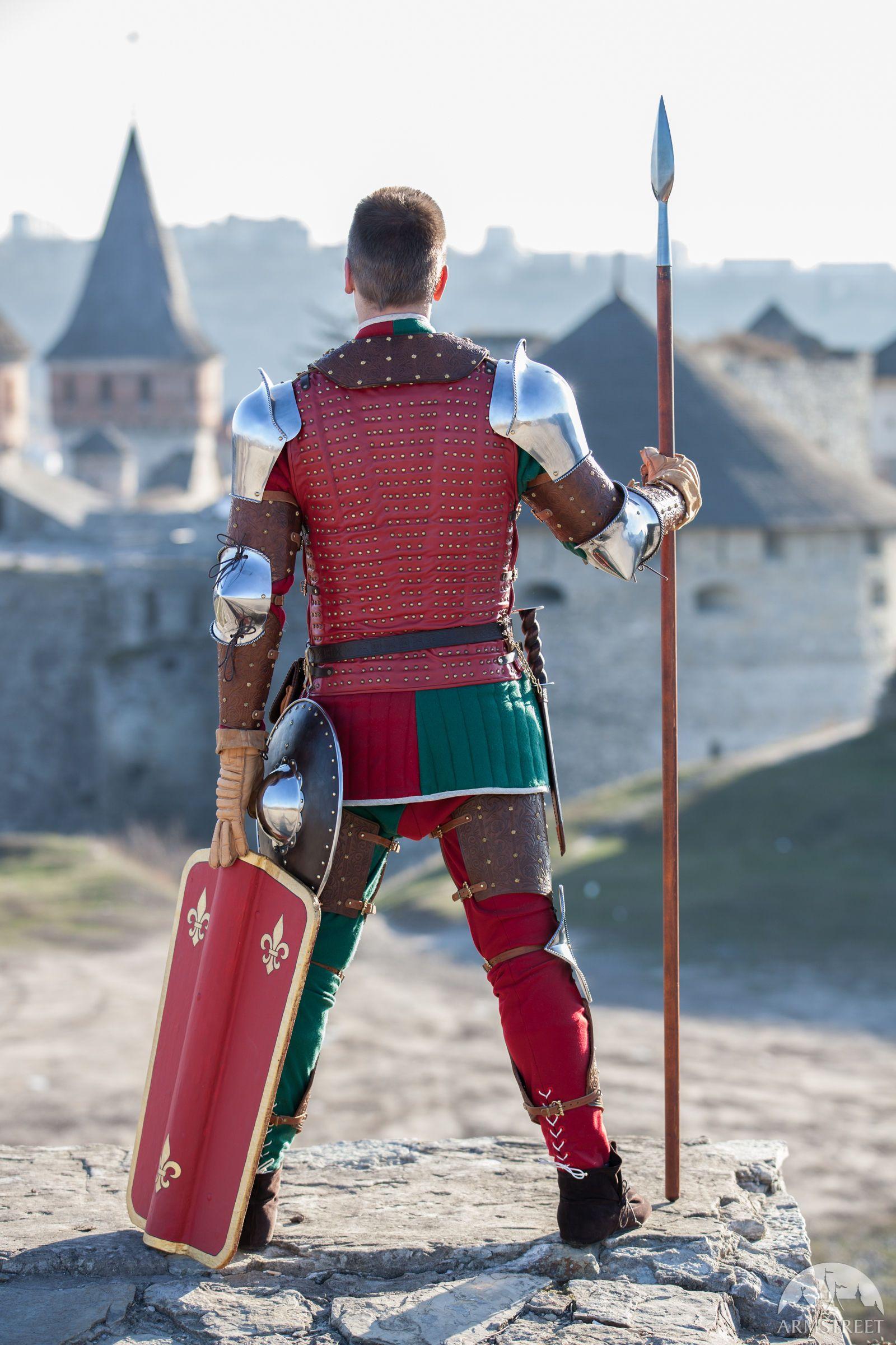 "Transitional Armour Kit ""Bird of Prey"" Medieval Weapons, Medieval Knight, Medieval Fantasy, Gripping Beast, Medium Armor, Anthony Jones, Arm Armor, Fantasy Armor, Chivalry"