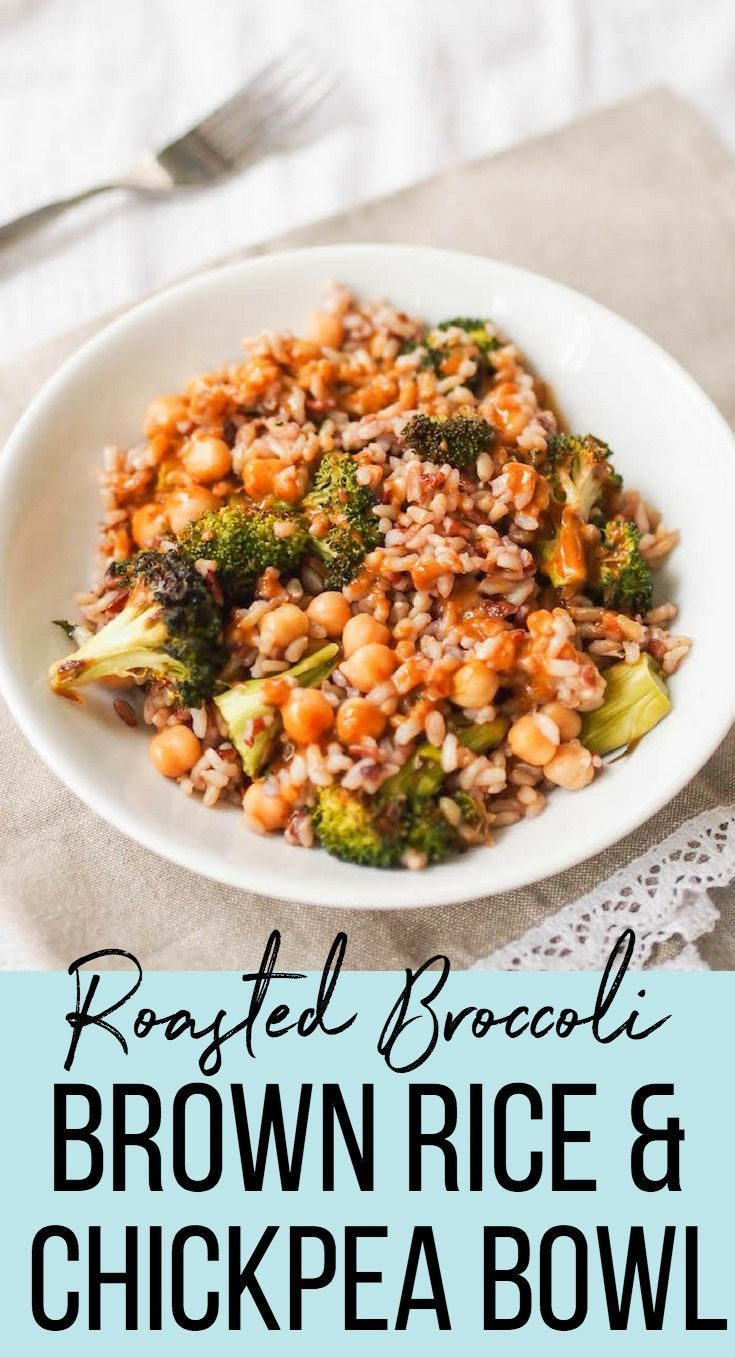 Broccoli Chickpea And Brown Rice Bowl With Mustard Soy