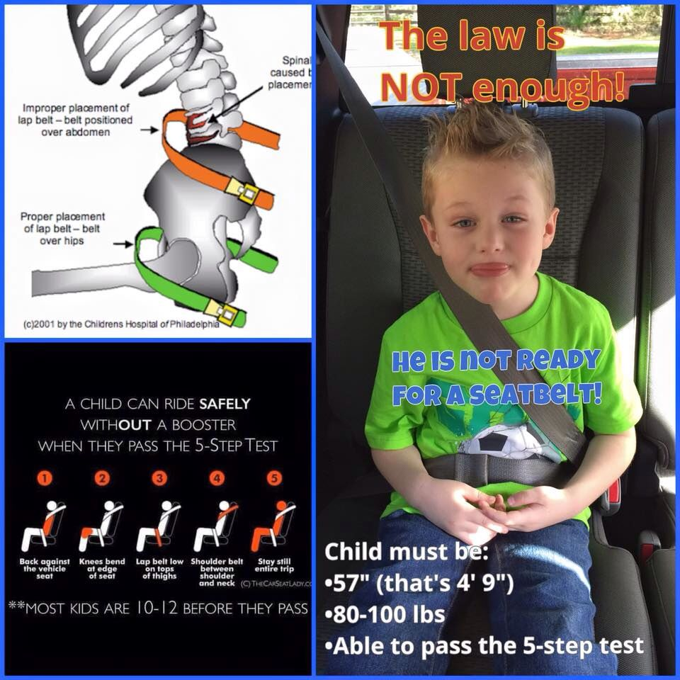 make sure your little really is ready for a seatbelt booster seat safety