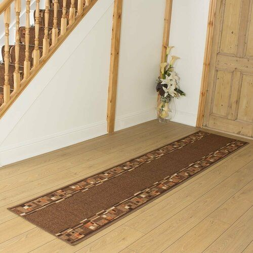 ClassicLiving Bainbridge Island Looped/Hooked Dark Brown Hallway Runner Rug | Wayfair.de