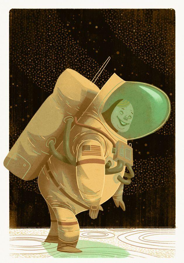 tmackart:  HISTORICAL FIGURE #15    Neil Armstrong