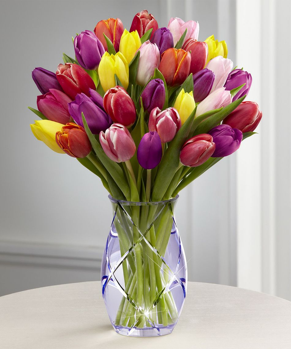 Spring Tulip Bouquet Tulip Bouquet Tulips Flowers Ftd Flowers