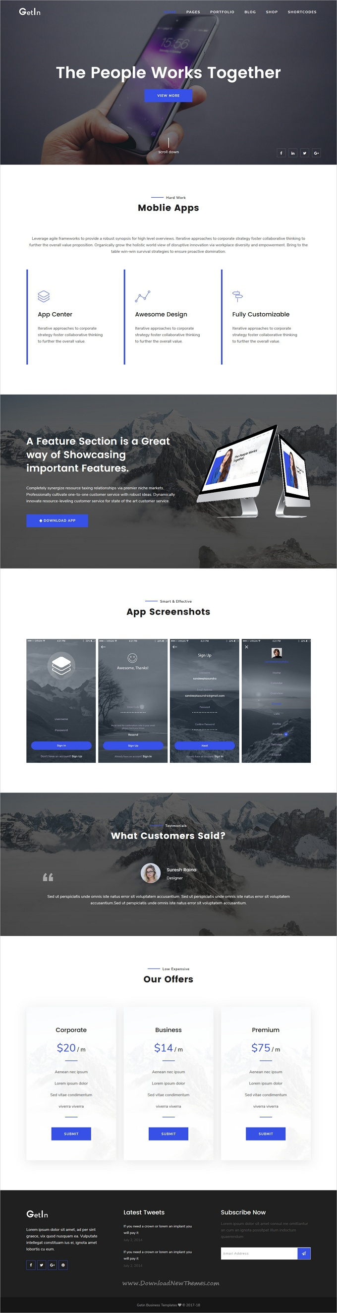 GetIn | The MultiPurpose HTML5 Template | Template