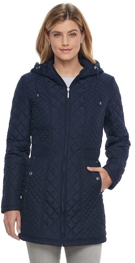 Weathercast Women's Weathercast Hooded Quilted Walker Jacket