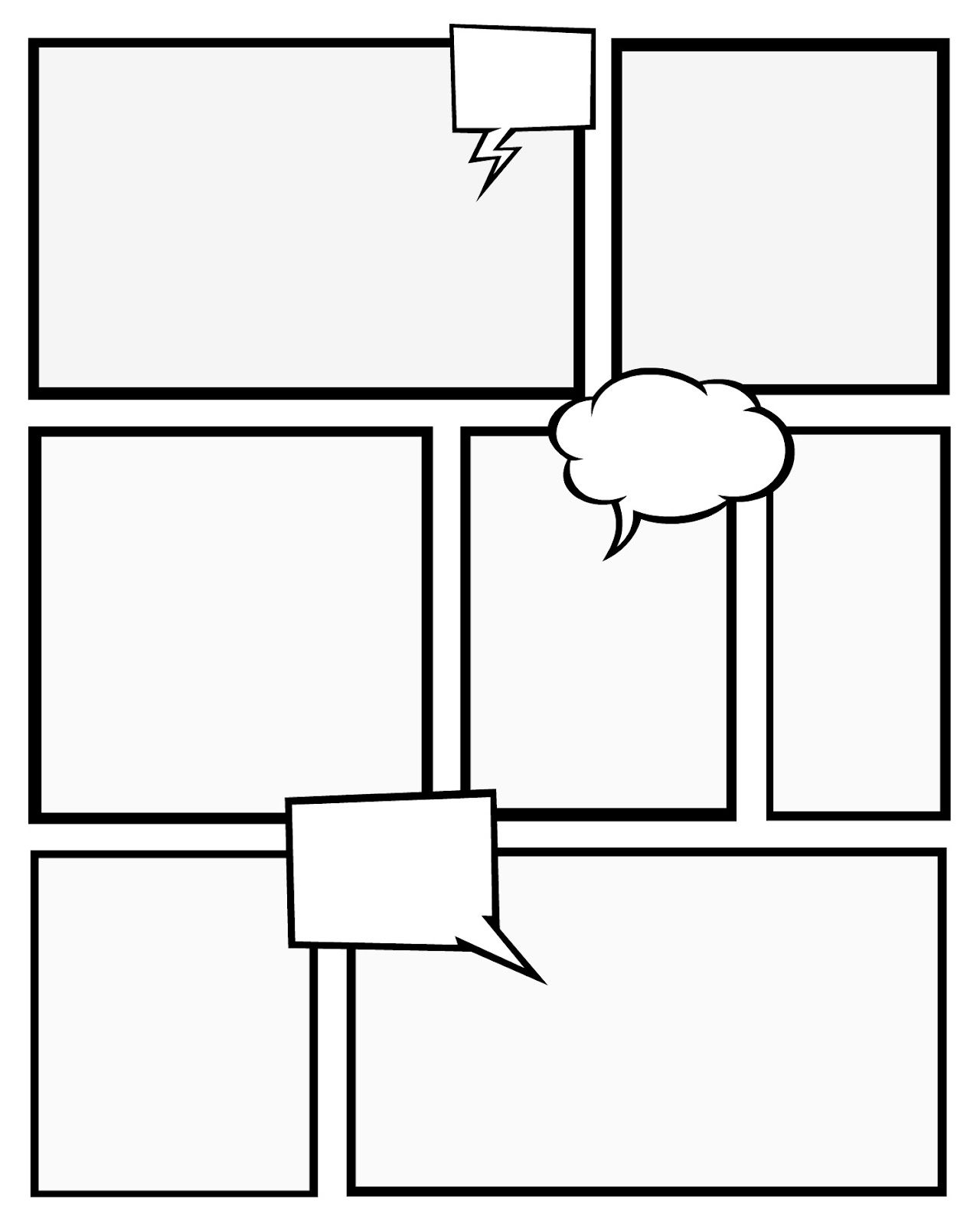 Comic Book Template Pdf Strip