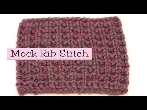 Fancy Stitch Combos - Mock Rib - YouTube