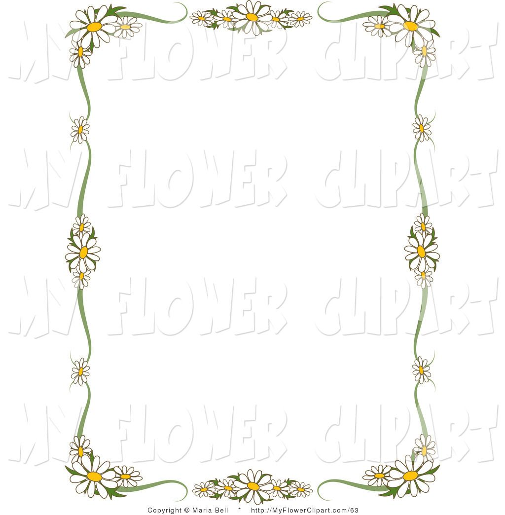 Clip art of a rectangular stationery border of white daisy flowers clip art of a rectangular stationery border of white daisy flowers izmirmasajfo