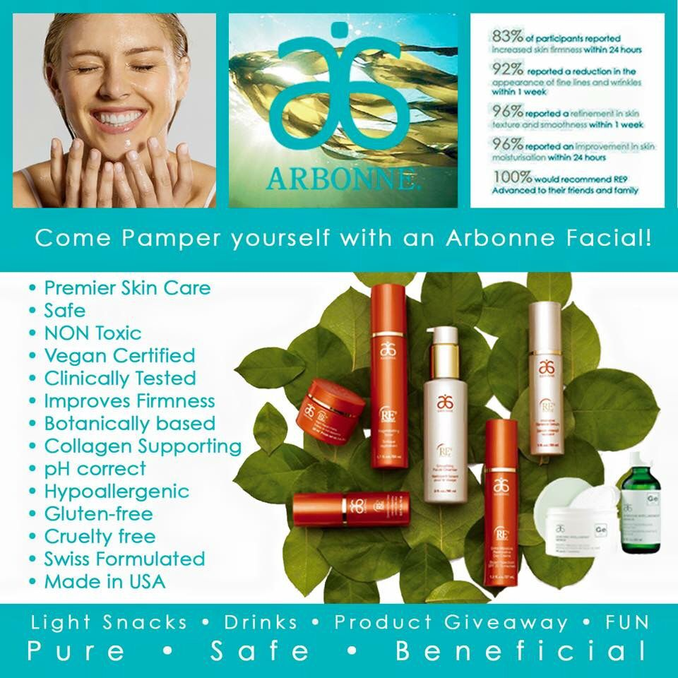 """Ask me about a free facial or free samples. #Arbonne. """"Like"""" my FB page at Surshae @Arbonne Independent Consultant. Consultant ID 21565488"""