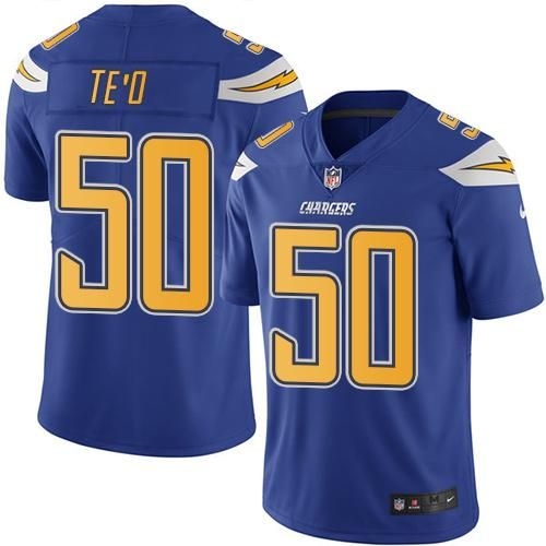 Nike Chargers #50 Manti Te'o Electric Blue Men's Stitched NFL  free shipping