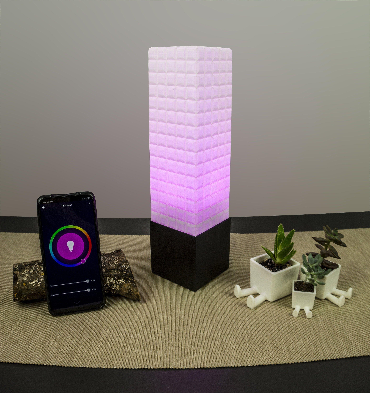 Smart Home Rgb Led Lampe 3d Druck Squares Rgb Led 3d Drucker Zeitschaltuhr