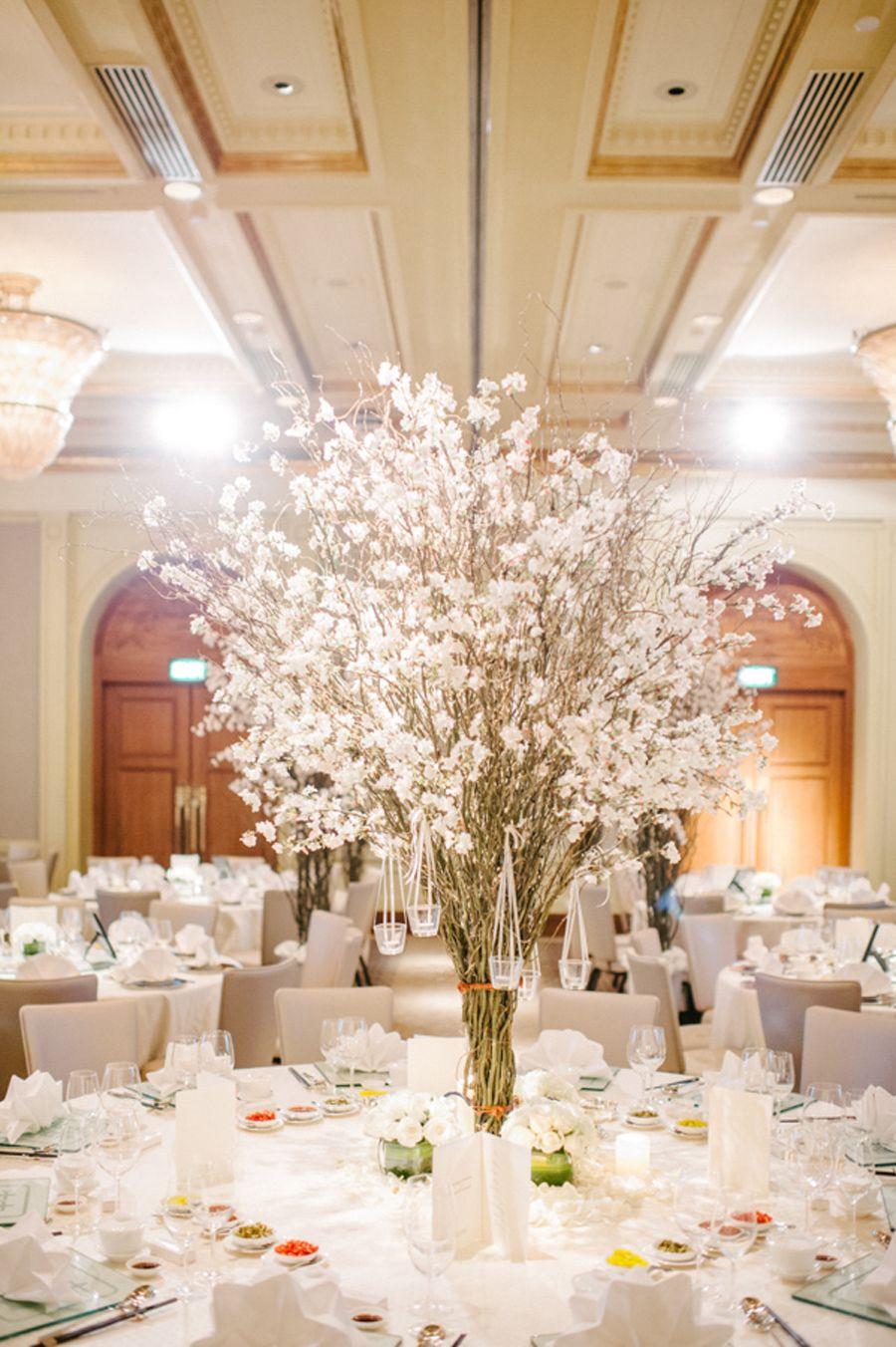 Cherry Blossom Wedding Ballroom Decor